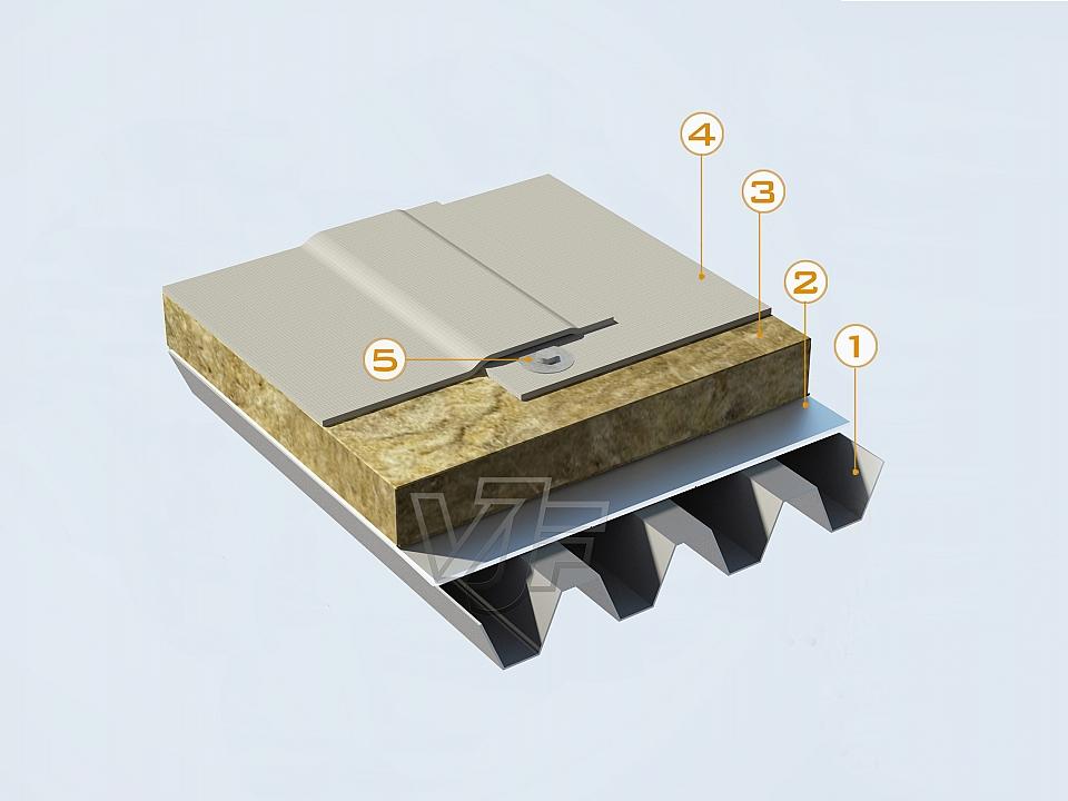 Хидроизолация на метален покрив с PVC мембрана