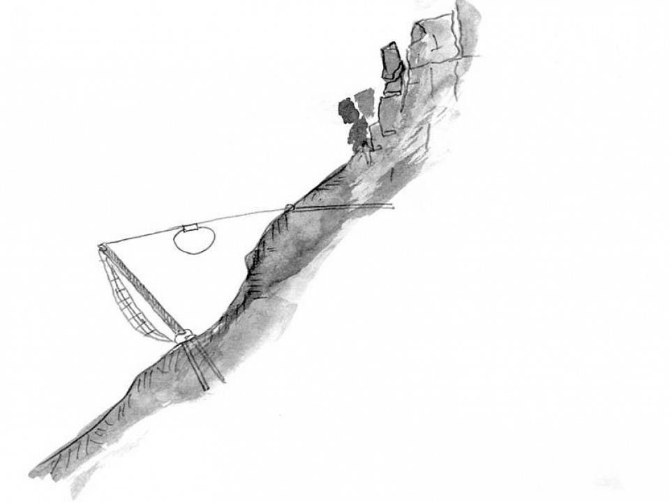 Защита от падащи камъни с двойно усукани и композитни стоманени мрежи