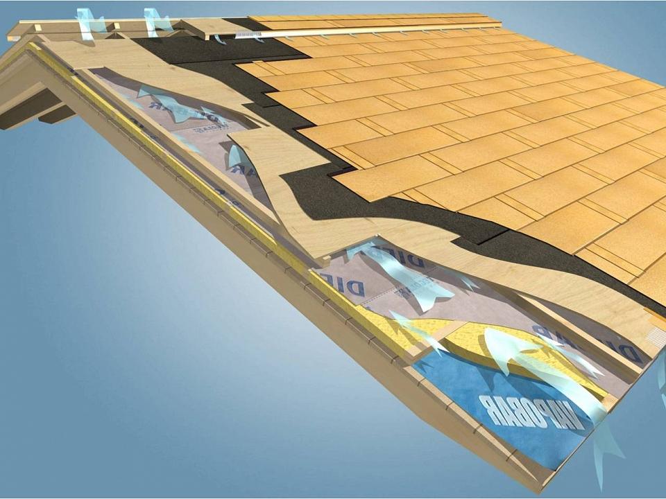 Вентилиран покрив с метални битумни керемиди