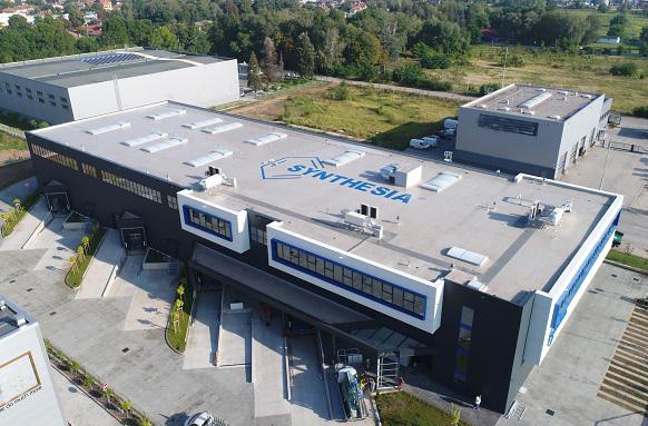 """ВИ ДЖИ ЕФ Инженеринг изпълни хидроизолацията на покрива на новата сграда на фирма """"Синтезия"""""""
