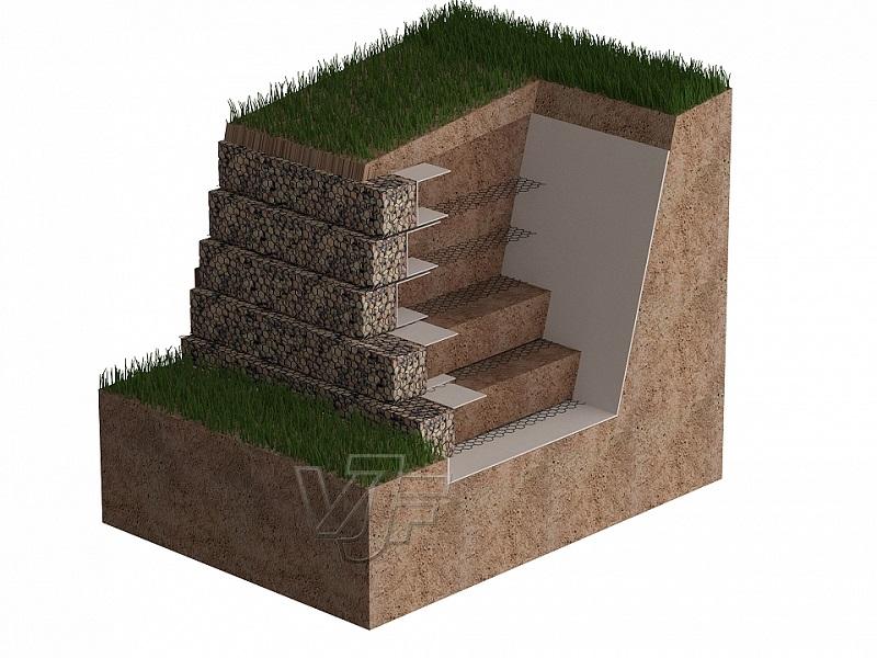 Армиран насип със система Mineral Terramesh