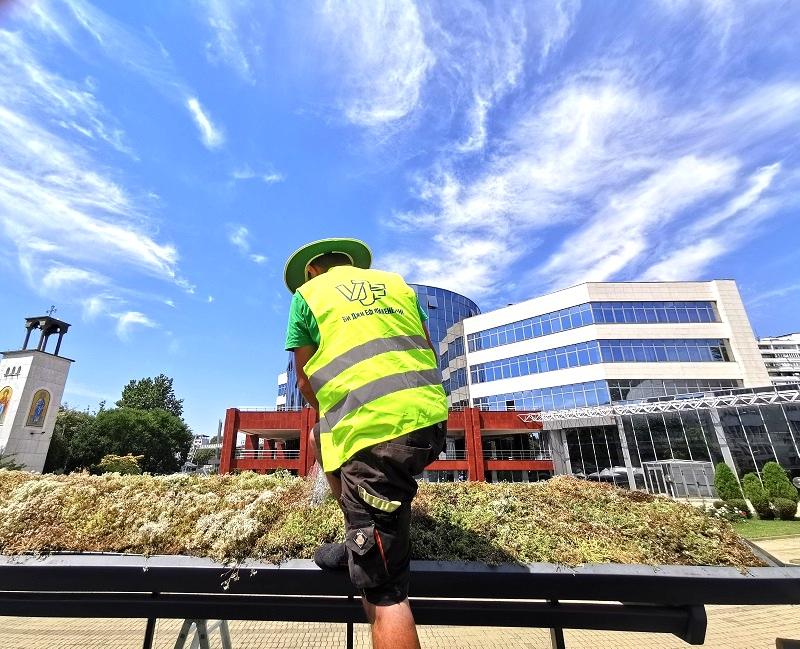 Екстензивно озеленяване на зелени спирки със система GreenSky