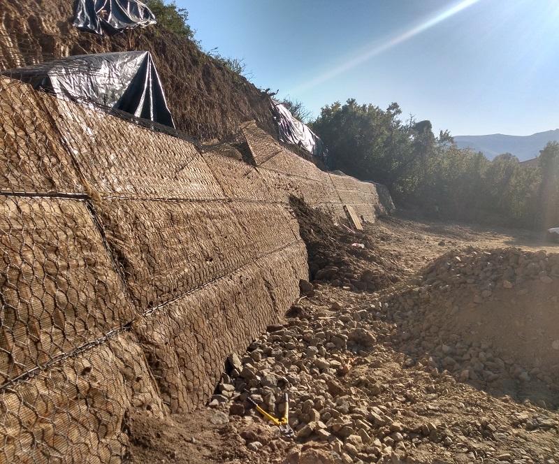Изграждане на армонасипна конструкция със система Зелен Терамеш