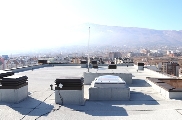 Roofing of Mirage residential building