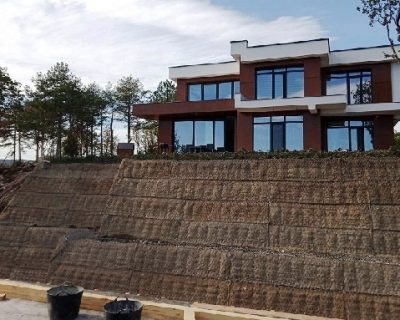 Soil reinforcement with Green Terramesh modular system in Varna city