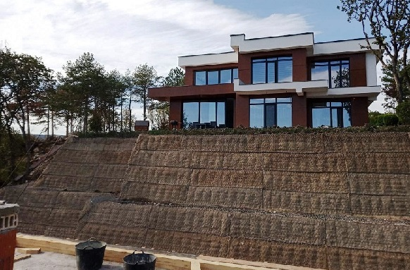 Soil reinforcement with Green Terramesh modular system in Varna city