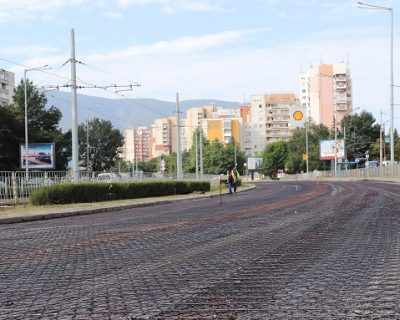"Asphalt reinforcement mesh supplied by VJF for the renovation of ""BULGARIA"" boulevard, Sofia city"
