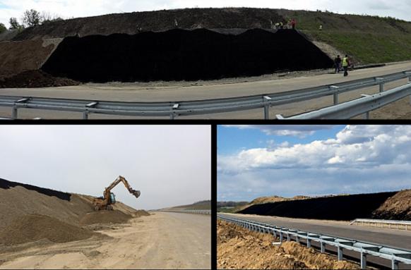 Повърхностно укрепване на откоси и армиран насип в участъка на Лот 2 от Автомагистрала Марица от ВИ ДЖИ ЕФ Инженеринг