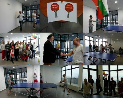 Table tennis tournament was the first from a series of 20 events, with which we celebrate VJF's 20th Anniversary