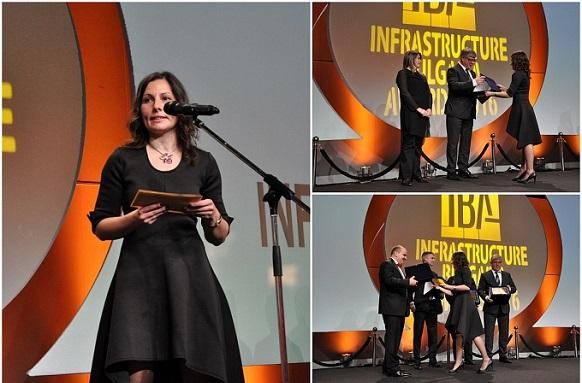 """ВИ ДЖИ ЕФ връчи приза в категория """"Транспортна железопътна инфраструктура"""" на първата церемония за връчване на Наградите за принос в развитието на инфраструктурата на България 2016г."""