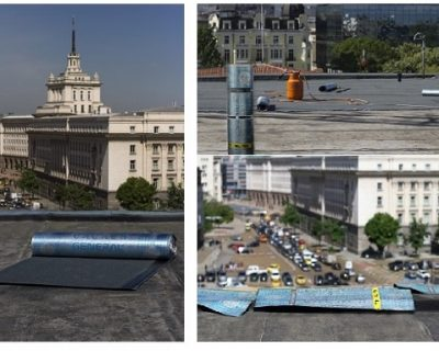 Waterproofing system with APAO modified membranes on the roof of the Bulgarian Development Bank